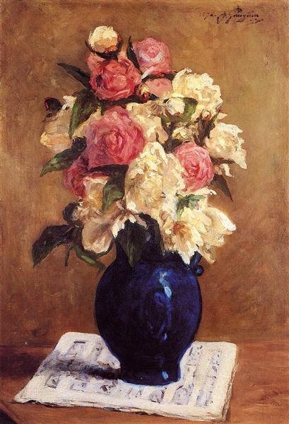Bouquet of Peonies on a Musical Score, 1876 - Paul Gauguin
