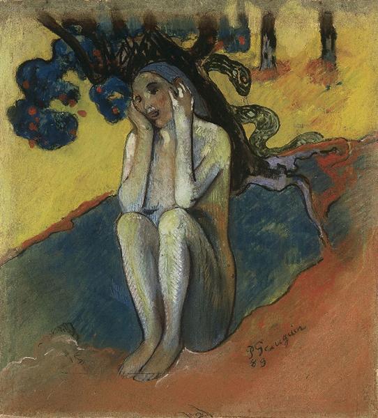 Breton Eve, 1889 - Paul Gauguin