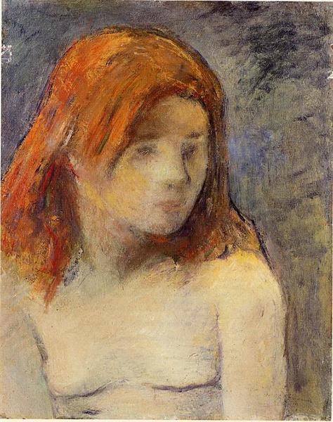 Bust of a nude girl, 1884 - Paul Gauguin