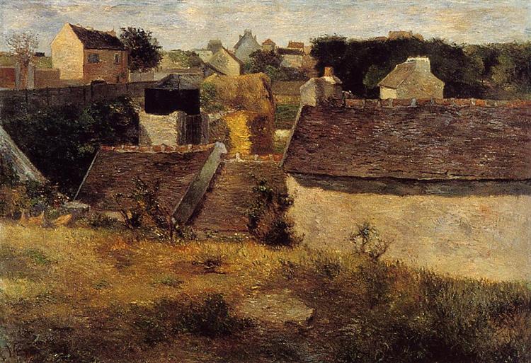 Houses at Vaugirard, 1880 - Paul Gauguin