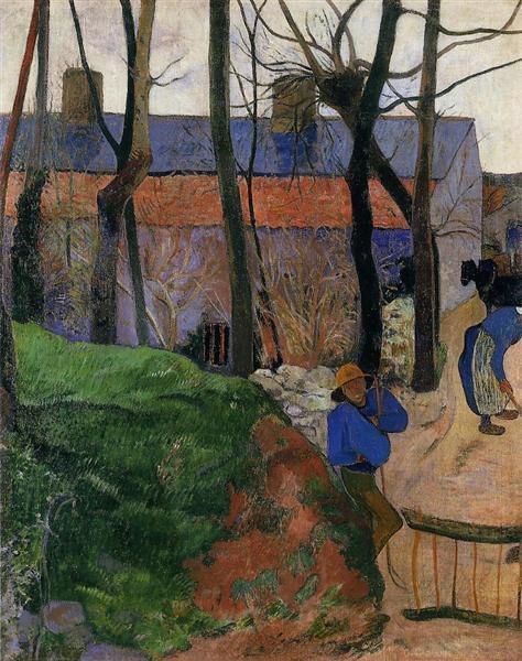 Houses in le Pouldu, 1890 - Paul Gauguin