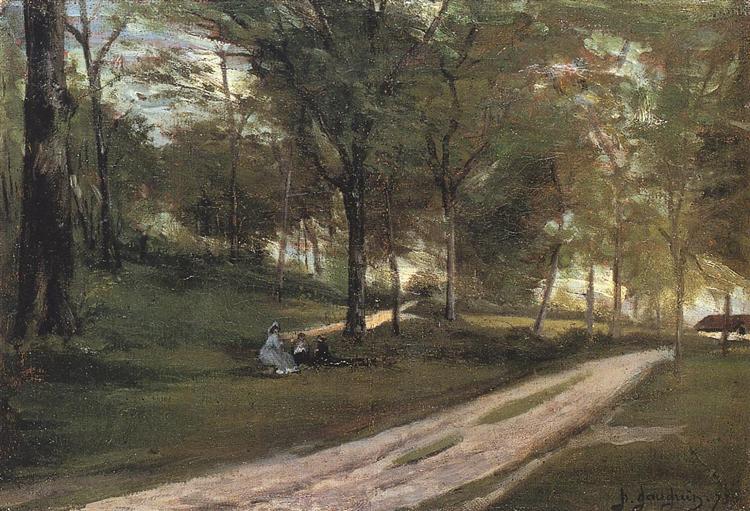 In the forest Saint Cloud II - Gauguin Paul