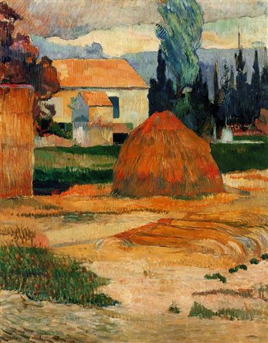 Landscape near Arles - Paul Gauguin