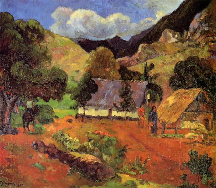 Landscape with three figures, 1901 - Paul Gauguin