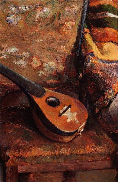 Mandolin on a chair, 1880 - Paul Gauguin