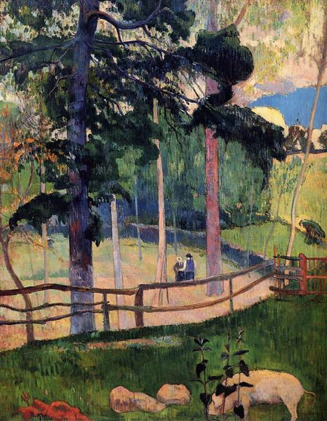 Nostalgic Promenade, 1889 - Paul Gauguin