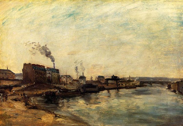 Port de Grenelle, 1875 - Paul Gauguin