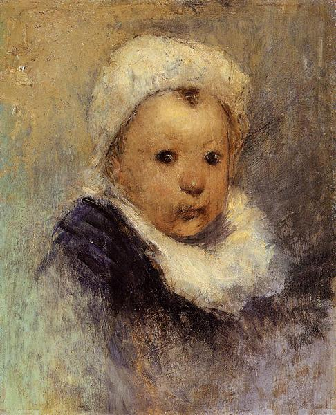 Portrait of a child (Aline Gauguin), c.1877 - Paul Gauguin