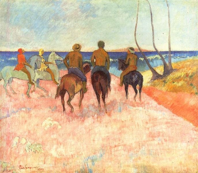 Riders on the beach, 1902 - Paul Gauguin