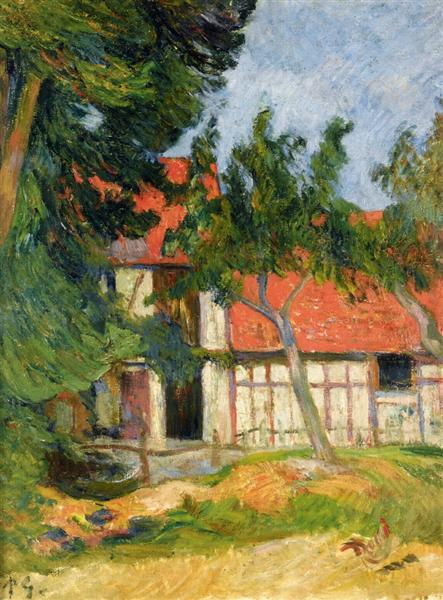Stabble near Dieppe, 1885 - Paul Gauguin