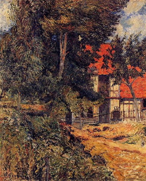 Stabble near Dieppe, 1886 - Paul Gauguin