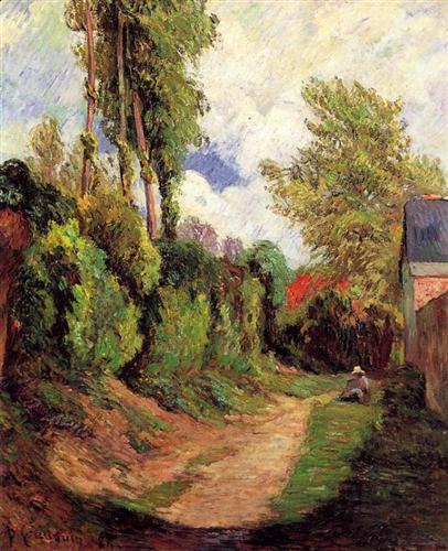 Sunken Lane - Paul Gauguin