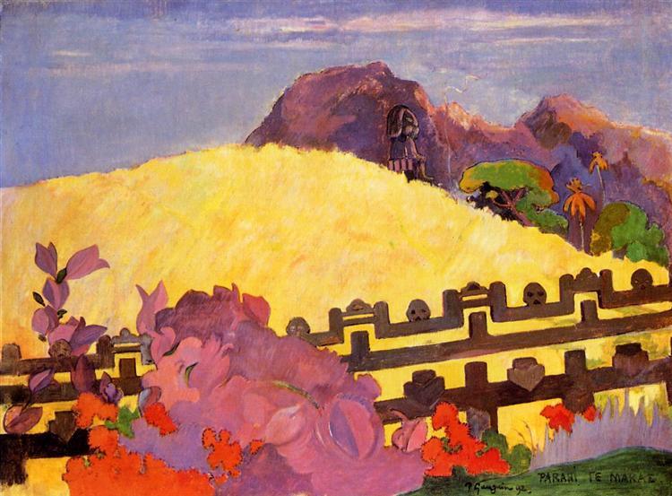 The sacred mountain, 1892 - Paul Gauguin