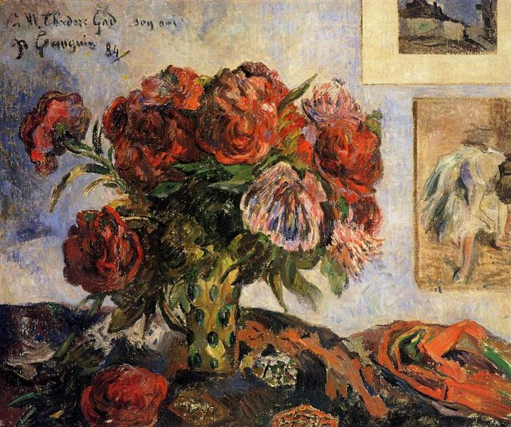 The vase of peonies, 1884 - Paul Gauguin