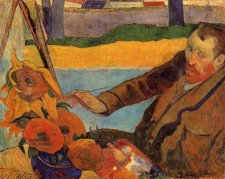 Van Gogh Painting Sunflowers, 1888 - Paul Gauguin