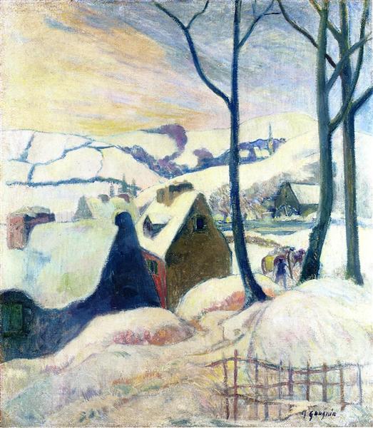 Village in the snow, 1894 - Paul Gauguin