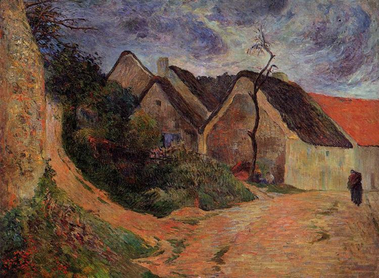 Village street, Osny, 1883 - Paul Gauguin