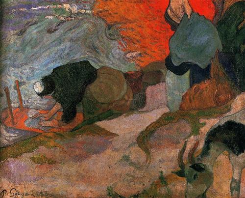 Washerwomen - Paul Gauguin