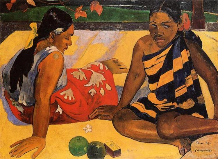 What's New?, 1892 - Paul Gauguin