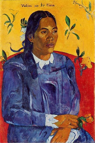 Жінка з квіткою - Поль Ґоґен