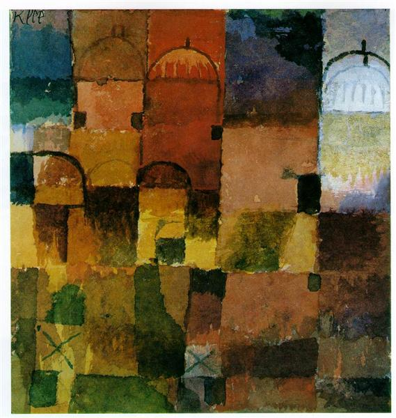 Red and White Domes - Paul Klee
