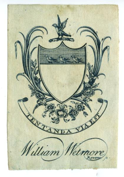 William Wetmore Bookplate - Paul Revere