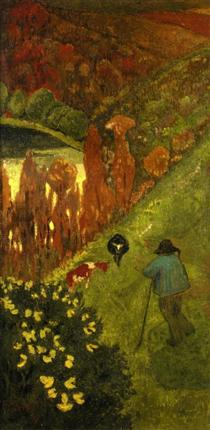 Shepherd in the Valley of Chateauneuf - Paul Serusier