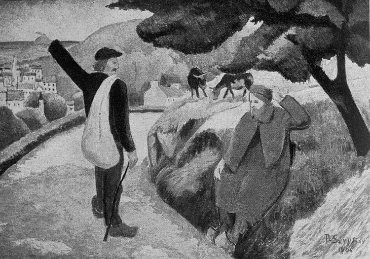 Tityrus Meliboea and the departure of Gauguin, 1892 - Paul Serusier