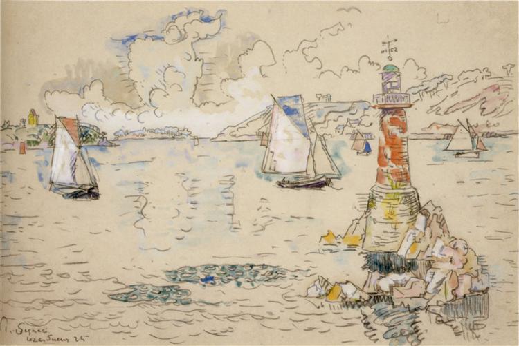 Lézardrieux, 1925 - Paul Signac