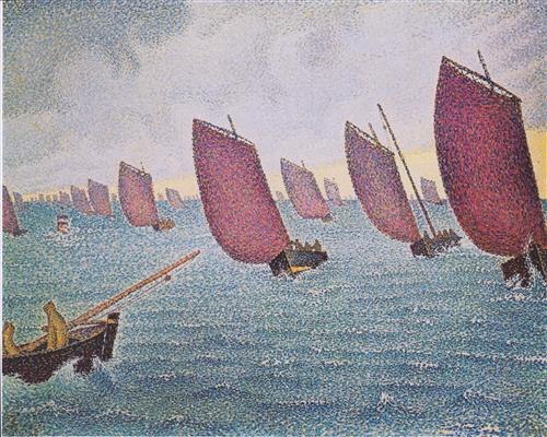 Regatta in Concarneau - Paul Signac