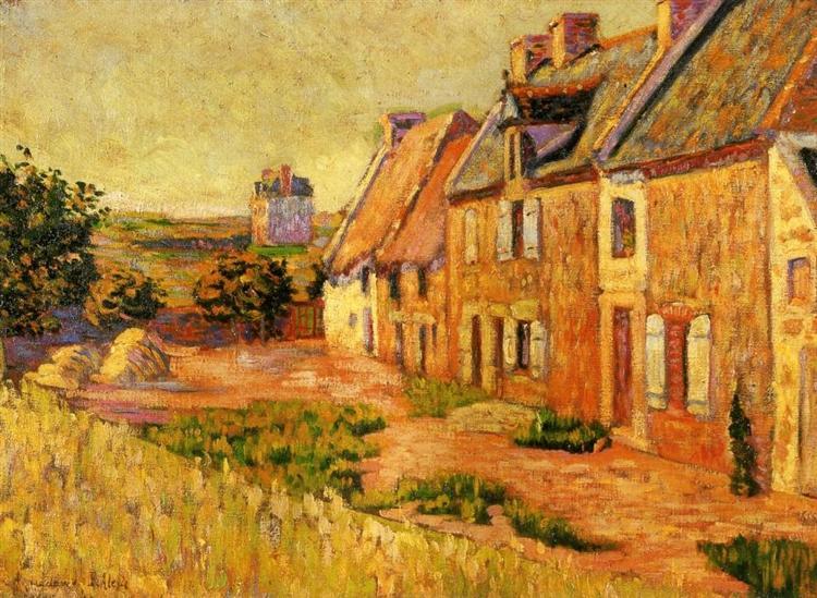 Saint Briac, Courtyard of the Ville Hue, 1885 - Paul Signac