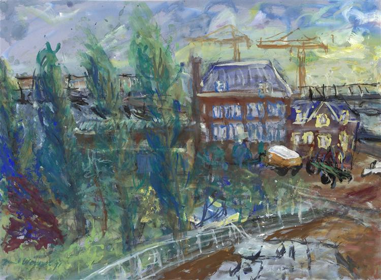 View on KNSM-laan in Amsterdam city, 1992 - Paul Werner