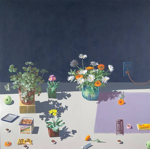 Dutch Still Life with Cookies and Candy, 1984 - Paul Wonner