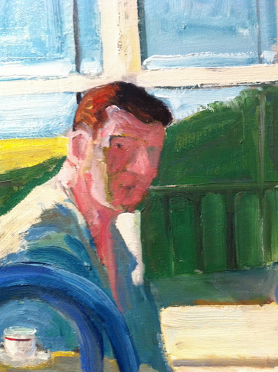 Model Drinking Coffee, 1964 - Paul Wonner