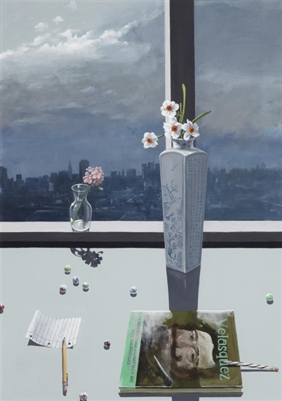 Study of Flowers with Art Book - Paul Wonner