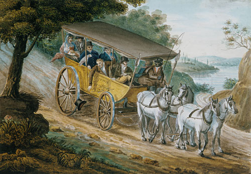 Travel by Stagecoach Near Trenton, c.1812 - Pavel Svinyin
