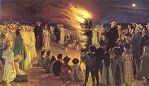 St John's Eve Bonfire on Skagen's Beach - Peder Severin Krøyer