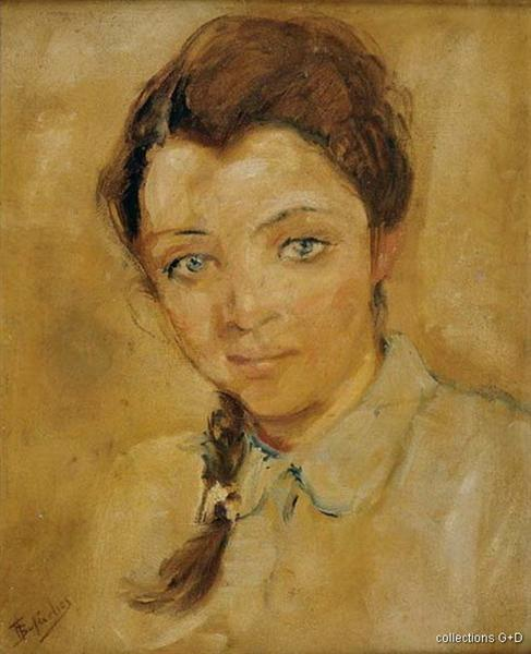 Portrait of a girl - Periklis Vyzantios