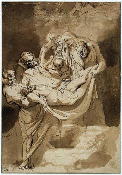Entombment, c.1615 - Peter Paul Rubens