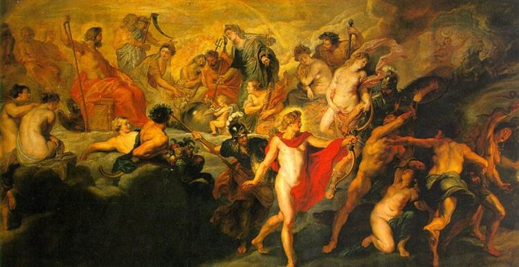 The Council of the Gods, 1622 - 1624 - Peter Paul Rubens