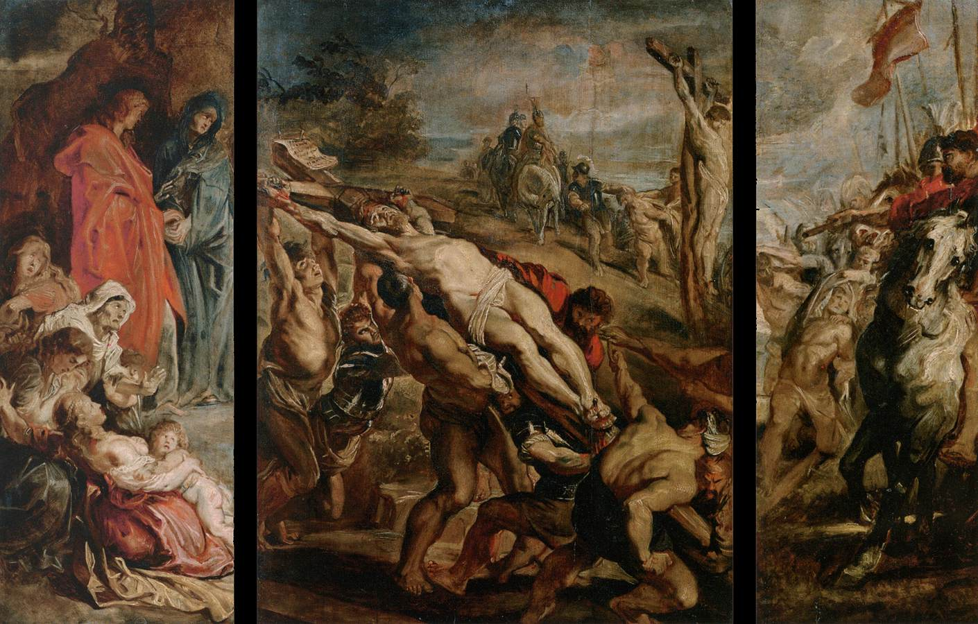 the raising of the cross by peter paul rubens The elevation of the cross is the name of two paintings, a triptych painting, and  an oil on paper  peter paul rubens - raising of the cross - 1610jpg  peter  paul rubens painted the triptych the elevation of the cross after returning to.