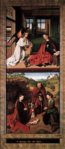 Annunciation and Nativity, 1452 - Petrus Christus