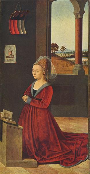 Kneeling female donor, c.1455 - Petrus Christus