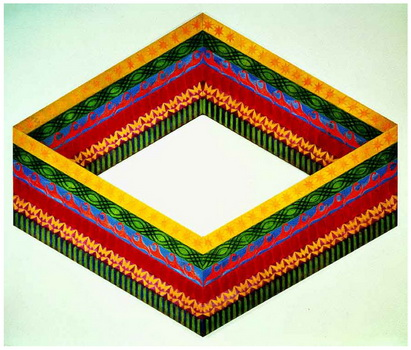 Banded Enclosure, 1988 - Philip Taaffe