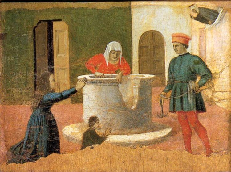 St. Elizabeth Saves a Boy, c.1460 - Piero della Francesca