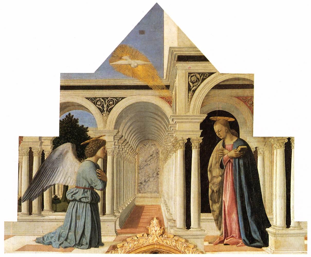 The Annunciation - Piero della Francesca - WikiArt.org ...