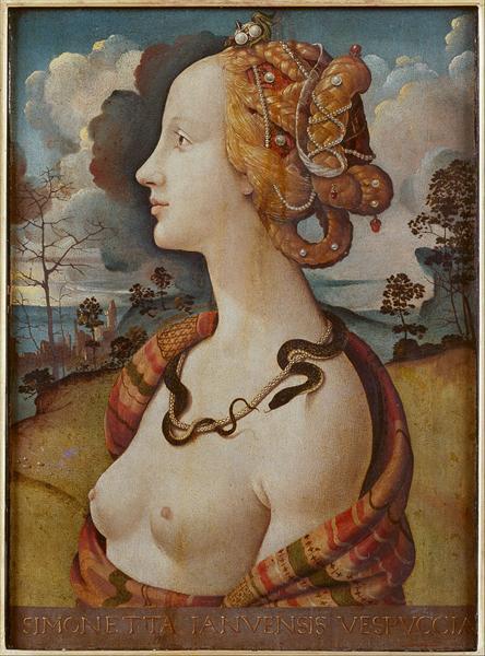 Portrait of a Woman, said to be of Simonetta Vespucci, 1490 - Piero di Cosimo