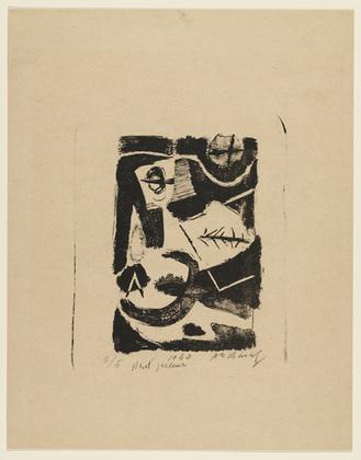 Loudspeaker (Haut parleur), 1950 - Pierre Alechinsky