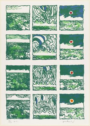 Night-watch (Trois quart de veille), 1977 - Pierre Alechinsky