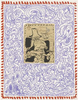 Plate V from the portfolio Papiers Traités, 1978 - Pierre Alechinsky